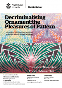 ARU Ruskin Gallery Poster Pleasure of pattern Final