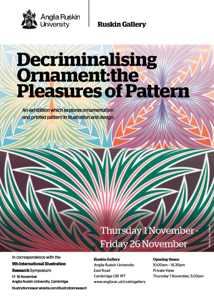 ARU Ruskin Gallery Poster Pleasure of pattern Final