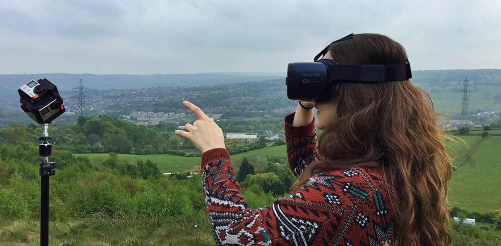 Alex with VR outside